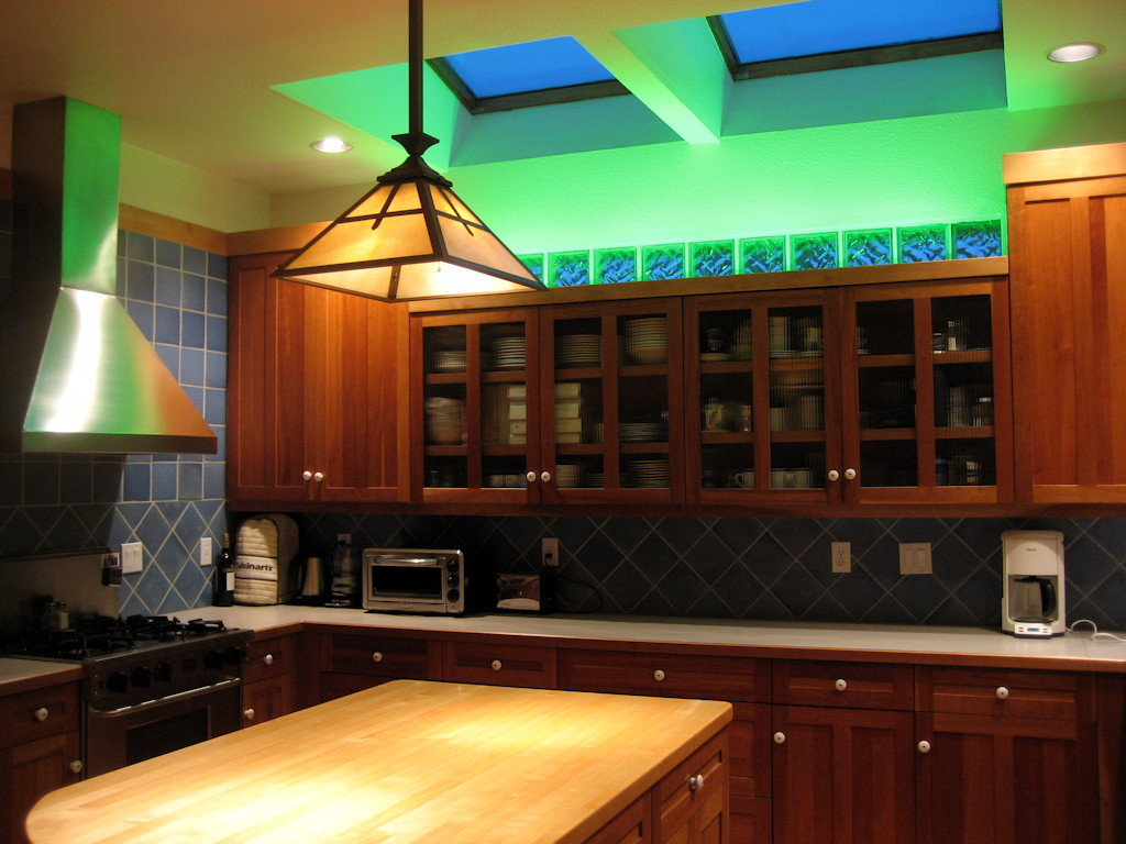Marvelous LED Lighting, Color Wash, Kitchen, Cabinet, Accent Lighting, Cove Lighting