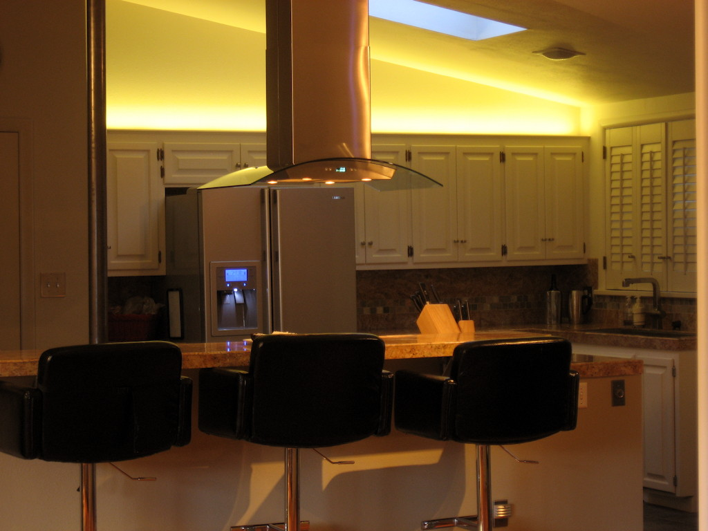 LED Lighting, Color Wash, Kitchen, Cabinet, Accent Lighting, Cove Lighting
